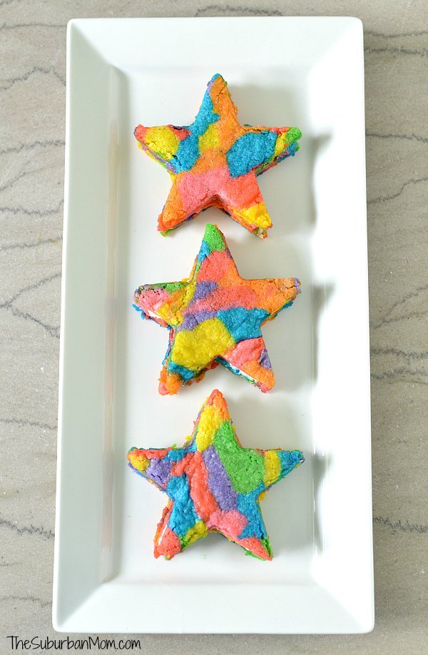 Rainbow Star Cookies