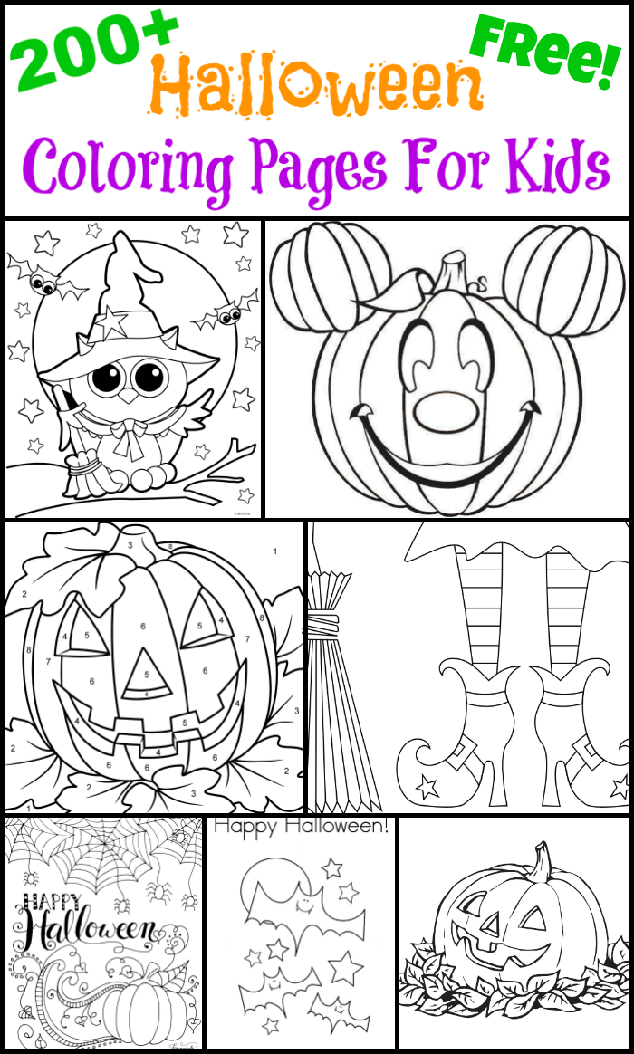 200 free halloween coloring pages for kids - Coloring Pages Of Halloween
