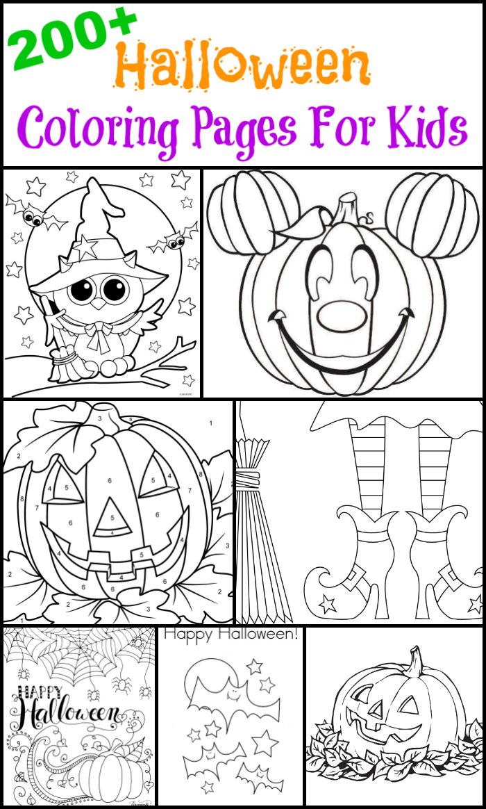 Halloween Coloring Pages For Printing