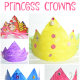 Cereal Box Princess Crown Kids Craft