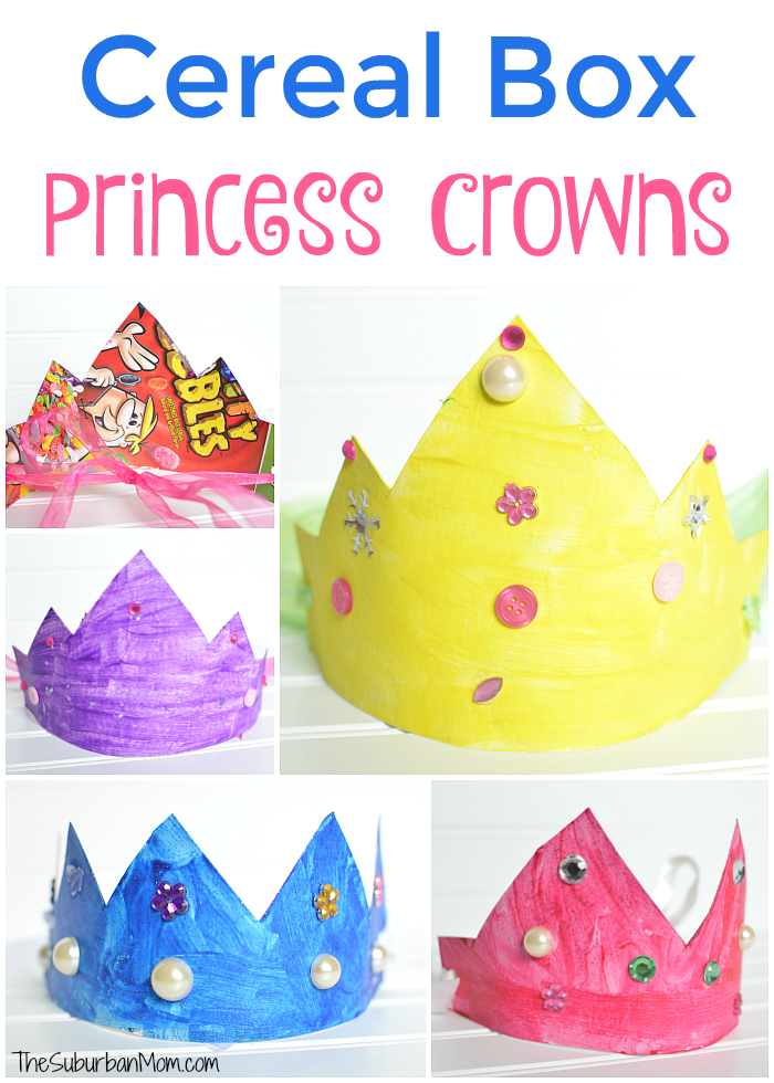 Cereal Box Princess Crown