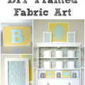 DIY Framed Fabric Art