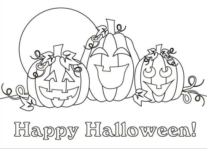 24 Free Printable Halloween Coloring Pages for Kids - Print Them ... | 503x700