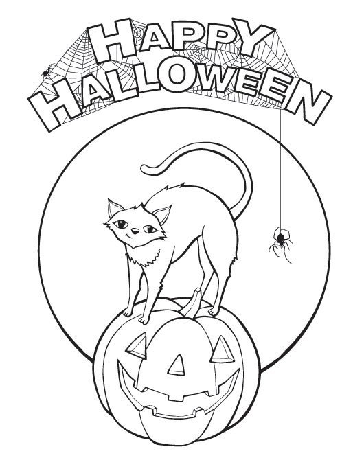 kids halloween coloring pages - Coloring Pages Kids Halloween