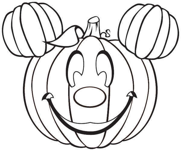 mickey mouse pumpkin coloring pages