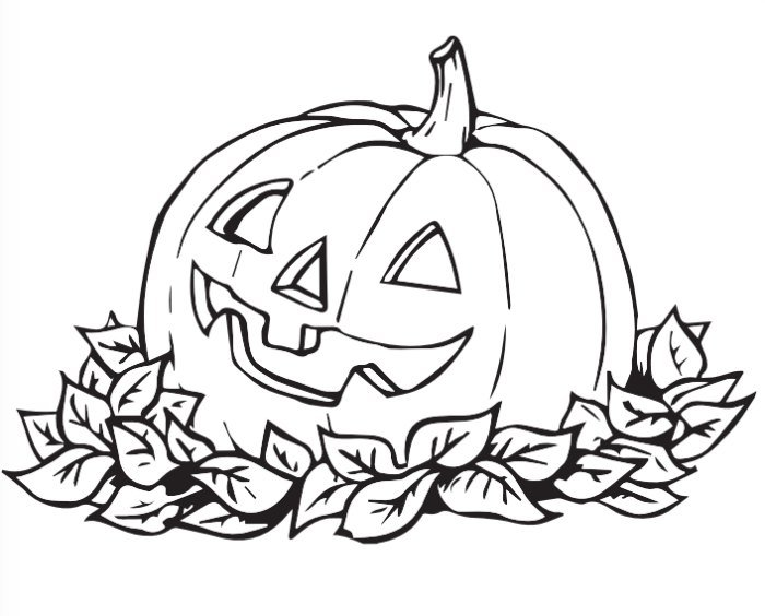 pumpkin halloween coloring page - Halloween Color Pages