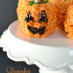 Pumpkin Rice Krispies Treats