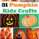 31 Pumpkin Kids Crafts For Halloween