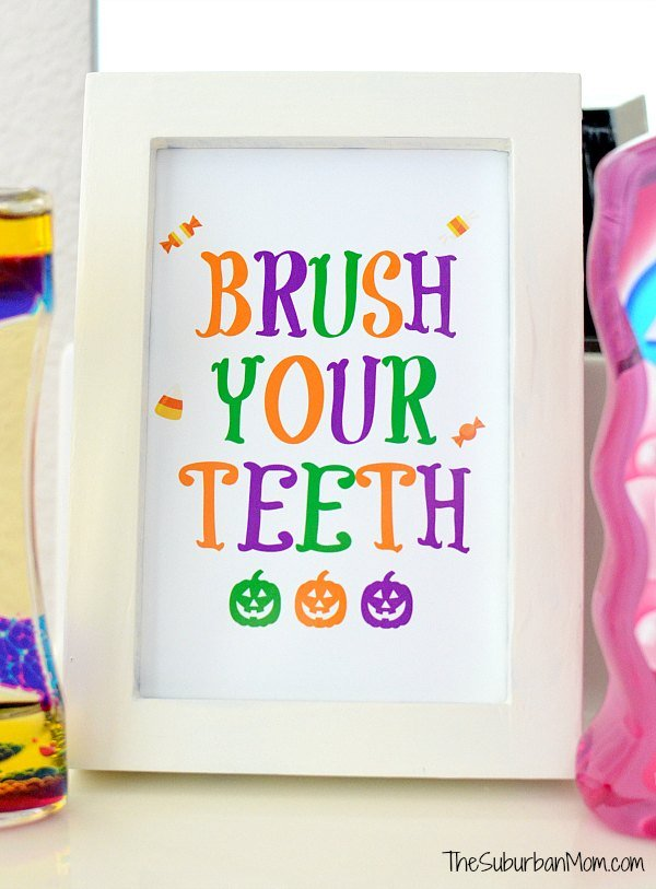 Brush Your Teeth Sign Printable