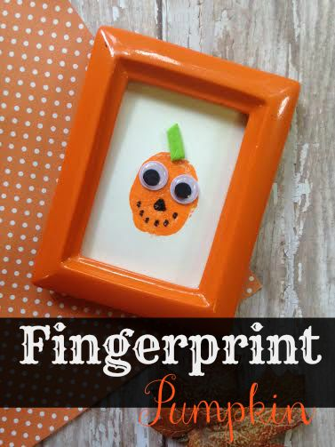 Fingerprint Pumpkin Craft