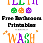 Halloween-Themed Brush Your Teeth Sign Printable