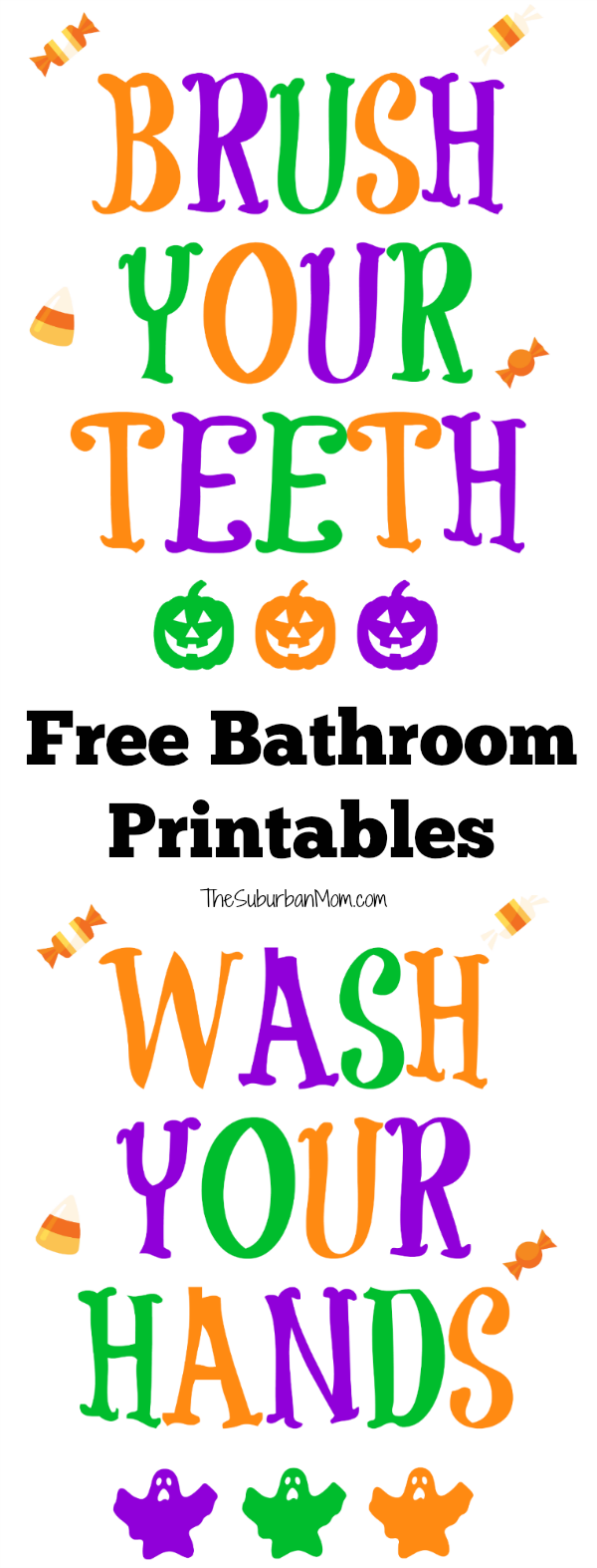 Halloween Bathroom Signs Printables