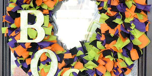 DIY Fabric Halloween Wreath