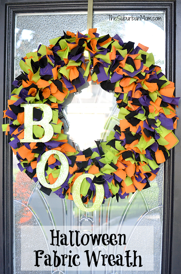 DIY Fabric Halloween Wreath