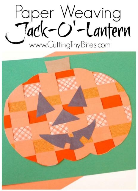 Paper Weaving Jack O Lantern