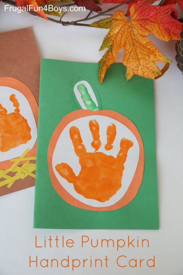 Handprint Pumpkin