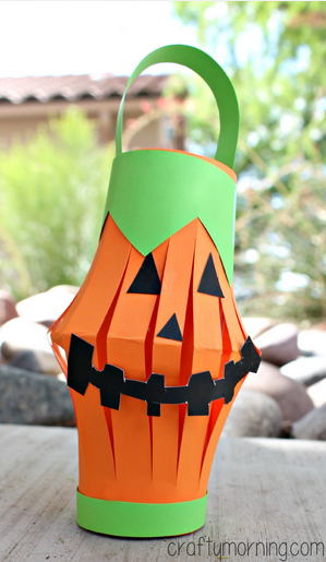 Pumpkin Lantern Kids Craft