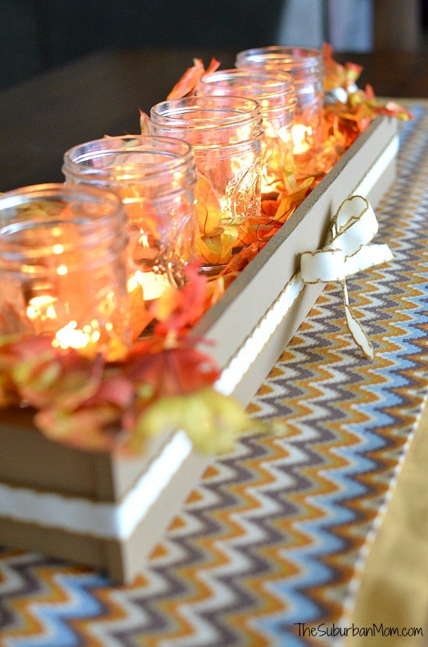 Fall Table Runner Thanksgiving Centerpiece Tutorial The