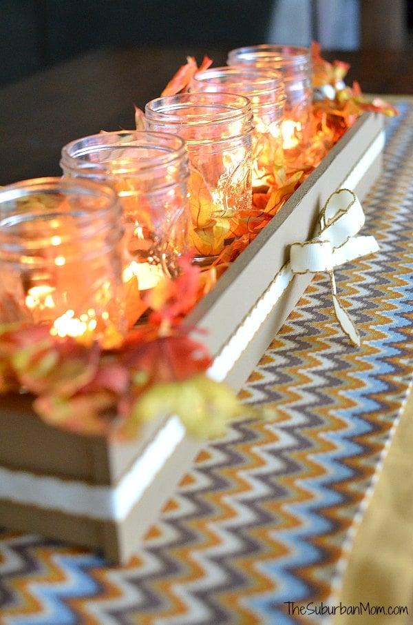 Fall Table Runner Thanksgiving Centerpiece Tutorial The Suburban Mom