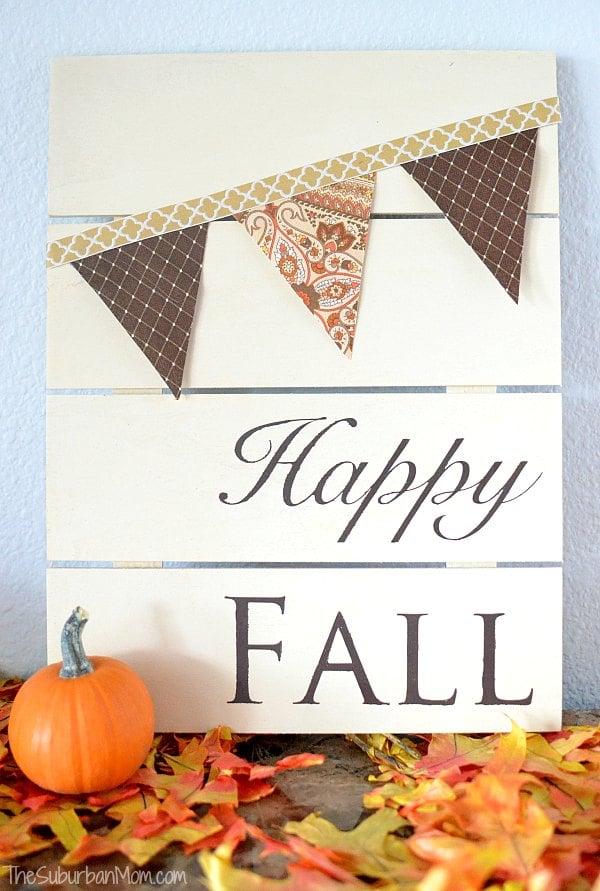DIY Fall Pallet Sign