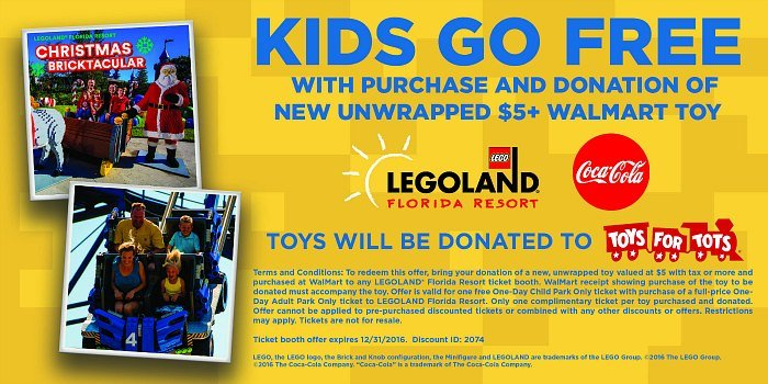 Free Child Ticket To LEGOLAND