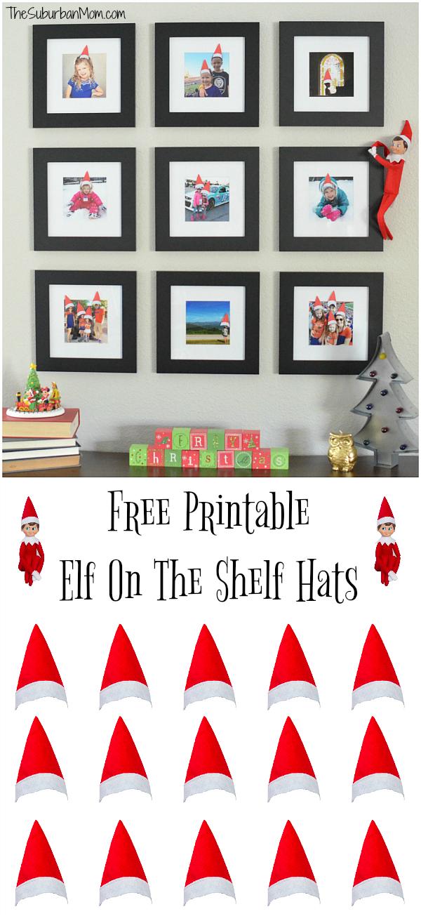 Free Printable Elf on the Shelf Hats