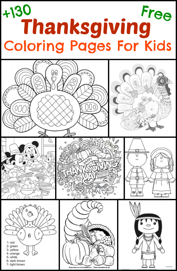130+ Thanksgiving Coloring Pages For Kids