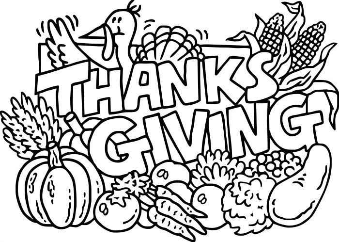 Thanksgiving Coloring Pages Placemats