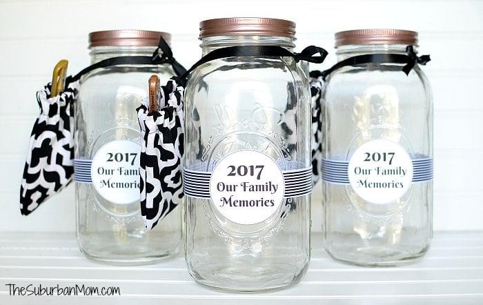 2020 New Year Memory Jar Printable The Suburban Mom