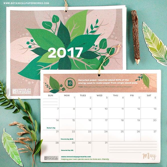 Free Printable 2017 Calendars
