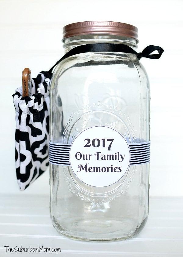 Mason Jar Memory Jar