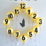 New Year's Eve Balloon Clock