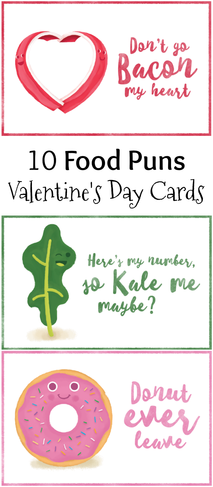 10 food pun valentine u0027s day cards free printables