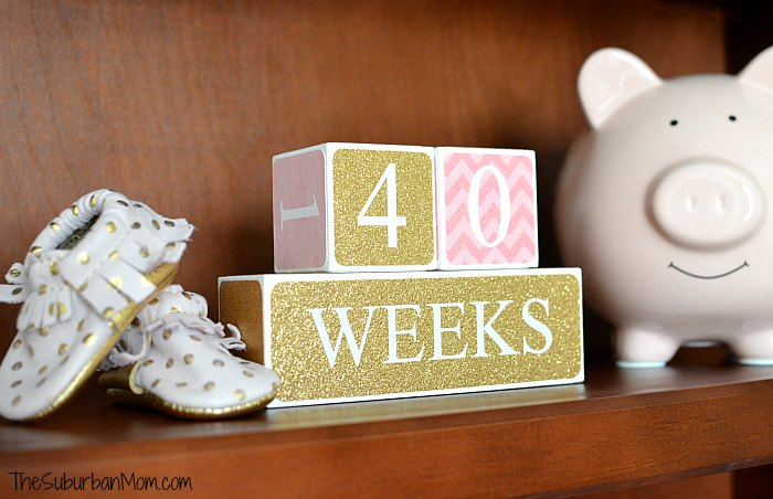 40 Weeks Baby Blocks