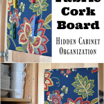 DIY Fabric Cork Board And Clothes Pin Tacks