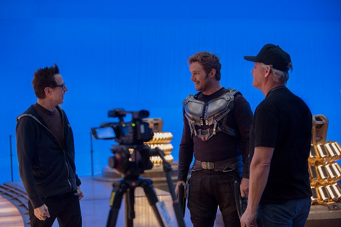 Guardians Vol Behind the Scenes Pratt Gunn