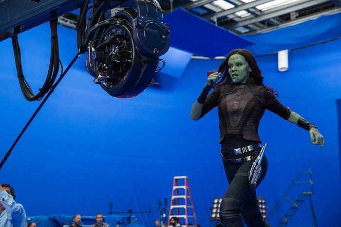 Guardians of the Galaxy Vol 2 Gamora Behind the Scenes