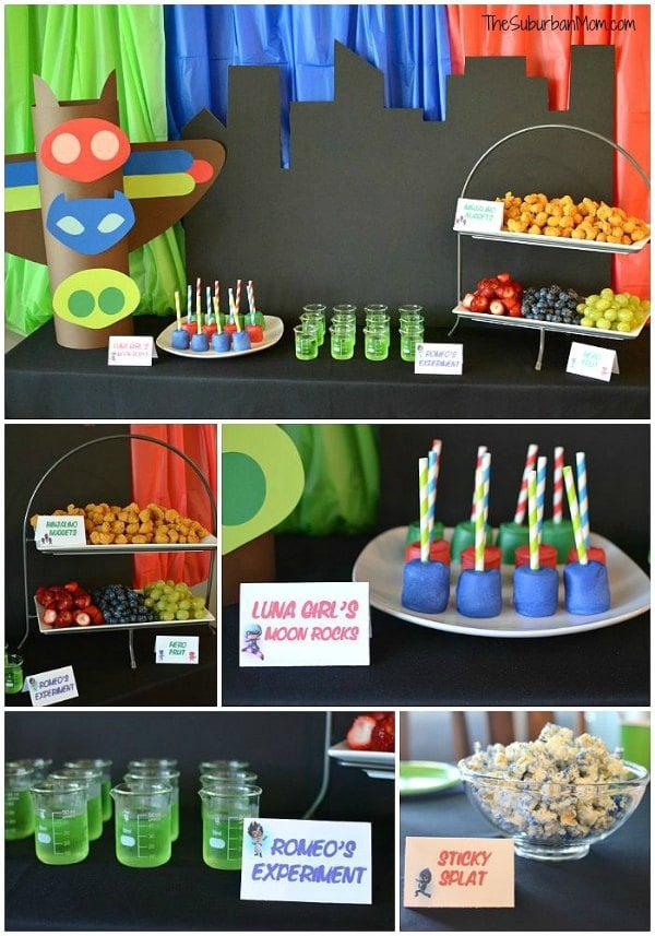 PJ Masks Party Food Ideas