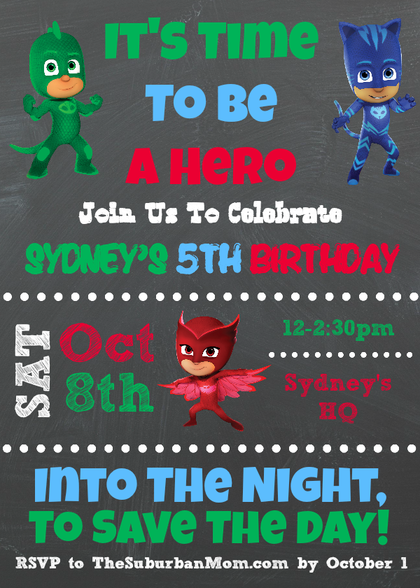 Pj Masks Birthday Party Ideas And Free Printables The Suburban Mom