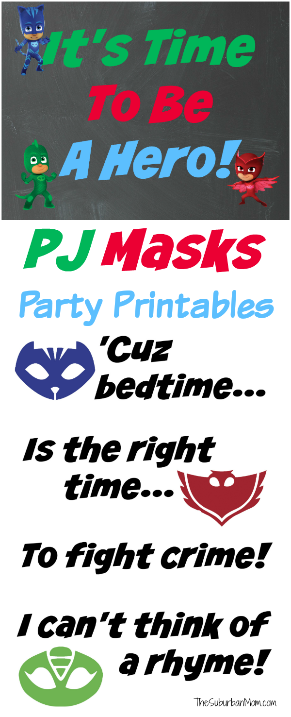 PJ Masks Printable Party Decorations at Kara's Party Ideas by The Suburban Mom
