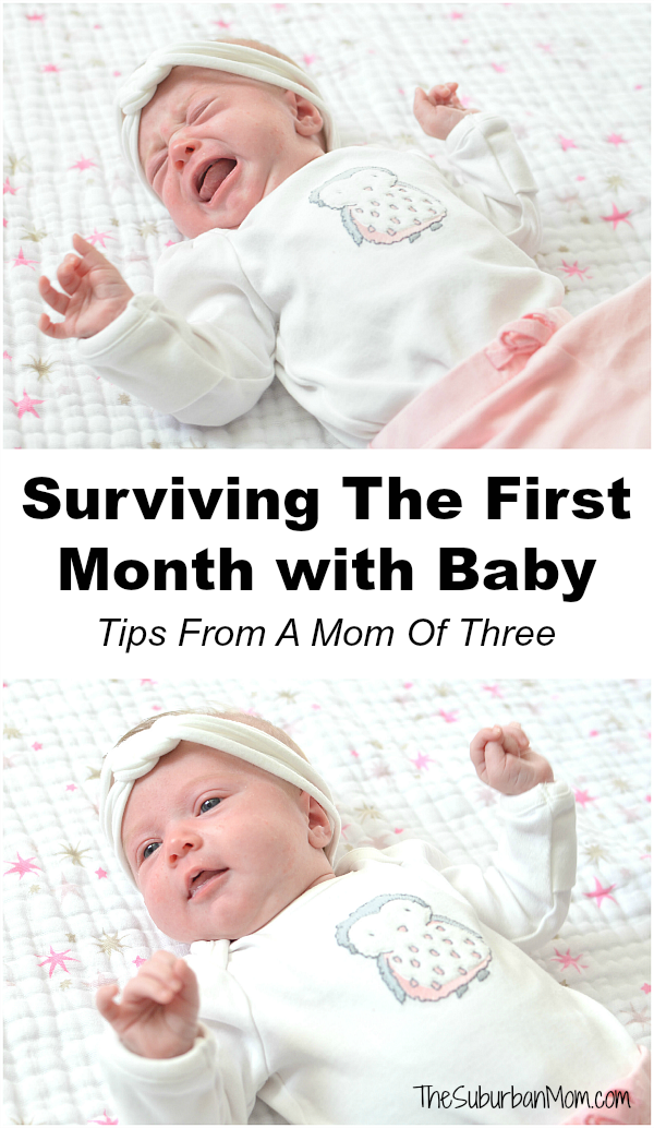 Surviving The First Month With Baby Tips