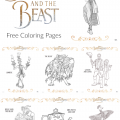 Free Beauty And The Beast Coloring Pages