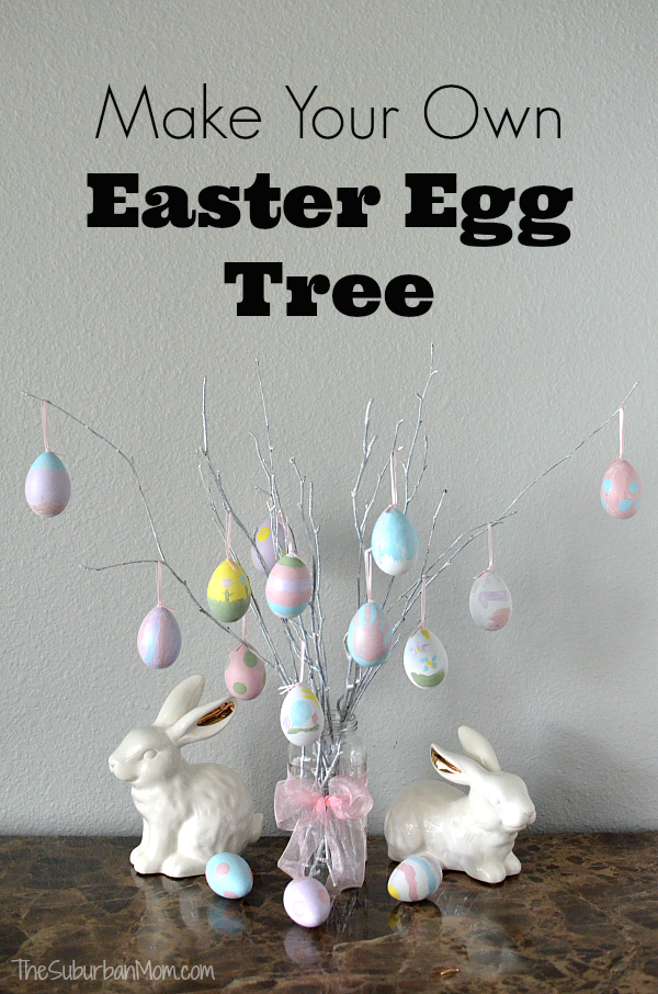 How to make easter egg tree decoration the suburban mom How to make an easter egg tree