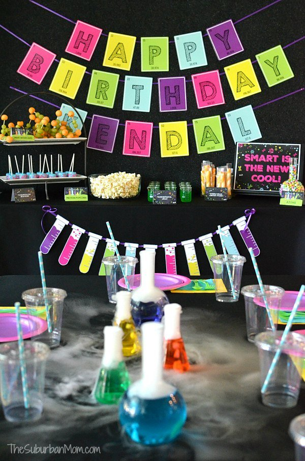 Science Birthday Party Ideas Printables Food