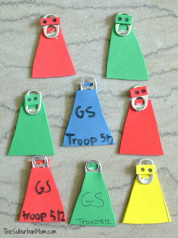 Pop Tab Superhero Craft