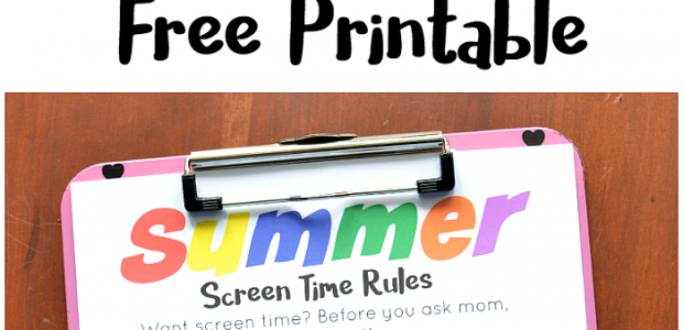 Summer Screen Time Rules Printable
