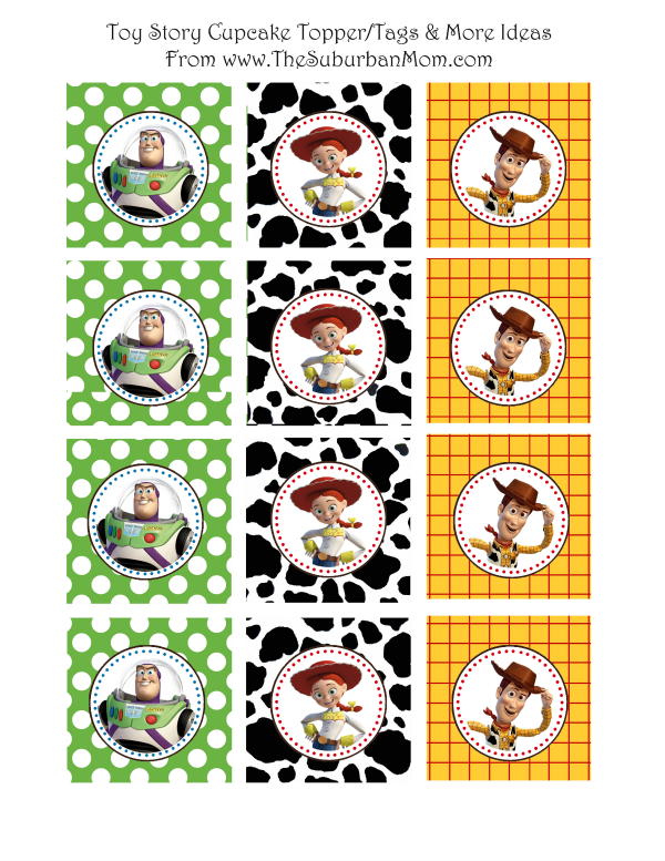 Download The Toy Story Cupcake Toppers Here