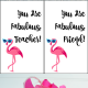 Free Flamingo Printable Fabulous Gift Tag