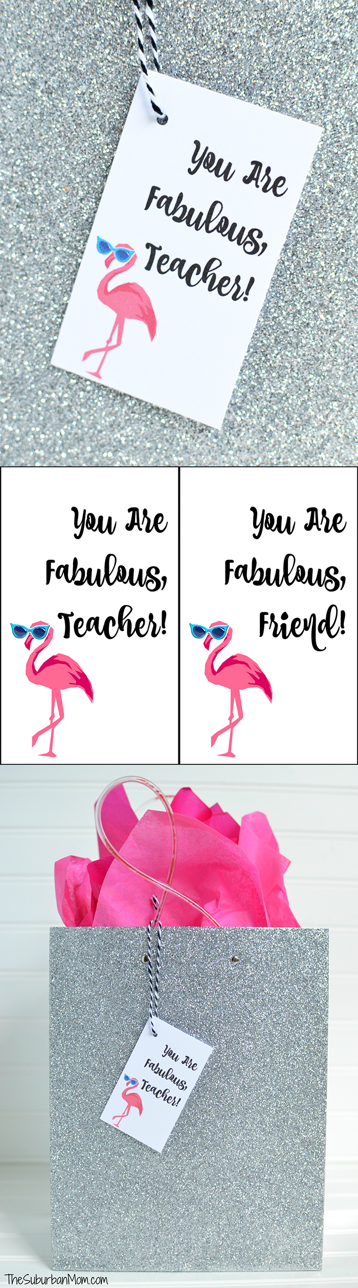 Free Flamingo Printable Gift Tag
