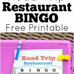 Road Trip Restaurant Bingo Free Printable